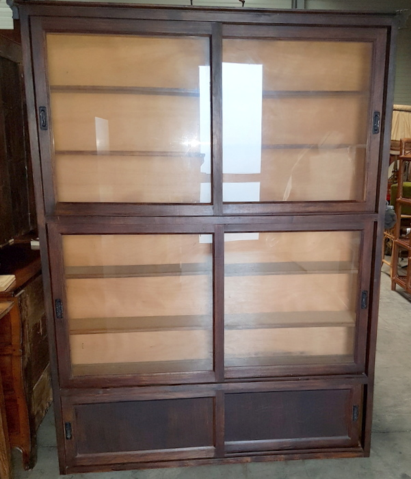 BIBLIOTHEQUE PORTES COULISSANTES/ SLIDING DOORS BOOKCASE