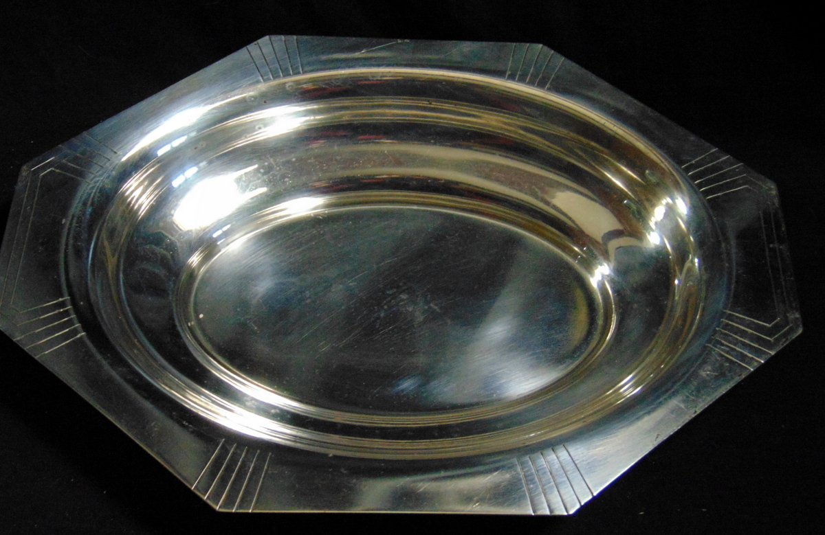 CORBEILLE ART DECO/ PLATED SILVER BASKET