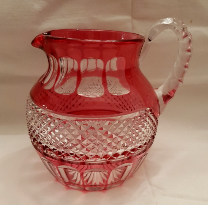PICHET CRISTAL ROUGE ST LOUIS / RED CRYSTAL PITCHER ST LOUIS