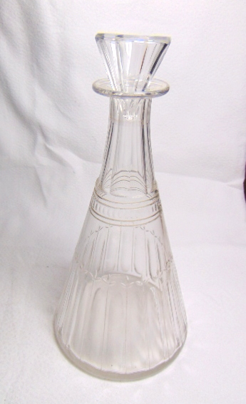 CARAFE CYLINDRIQUE CRISTAL / CYLINDRICAL CRYSTAL DECANTER