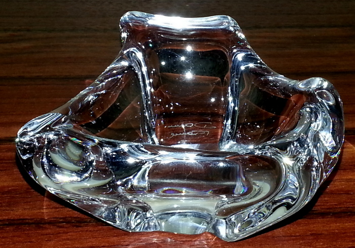 CENDRIER CRISTAL DAUM / DAUM CRYSTAL ASHTRAY