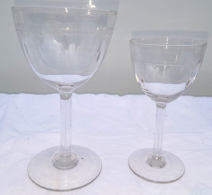 LOT DE VERRES ART DECO/ SET OF GLASS ART DECO