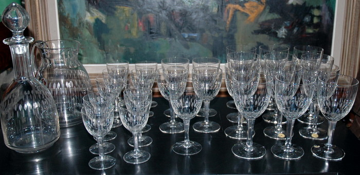 SERVICE DE VERRE CRISTAL BOCH/ BOCH SET OF CRYSTAL GLASSES