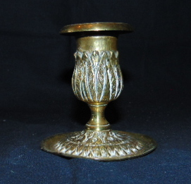 BOUGEOIR DE VOYAGE EN BRONZE / TRAVEL BRONZE CANDLEHOLDER