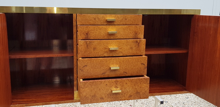 BUFFET EN LOUPE D'ORME WILLY RIZZO/ ELM BURL SIDEBOARD WILLY RIZZO