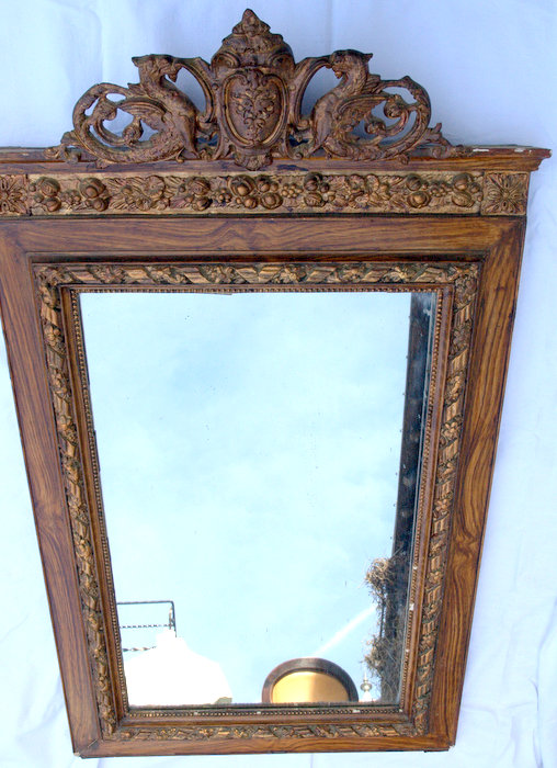 MIROIR A FRONTON / COAT OF ARMS MIRROR