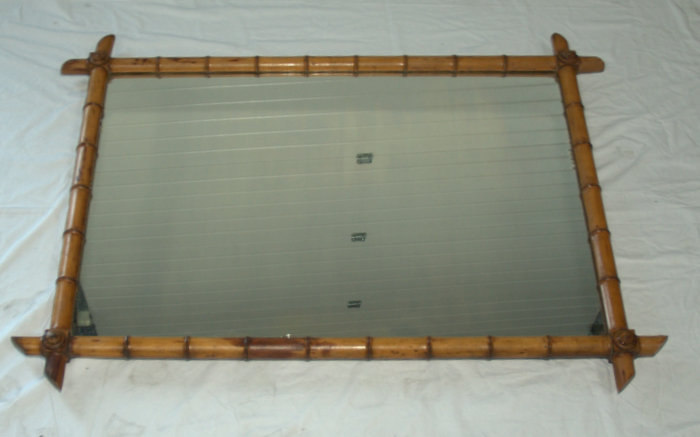 GRAND MIROIR BAMBOU 1.40 X 1.00 M / BIG BAMBOO MIRROR