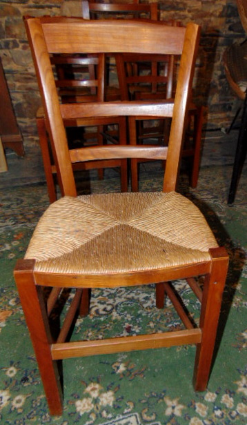 6 CHAISES MERISIER / CHERRY WOOD SET OF 6 CHAIRS