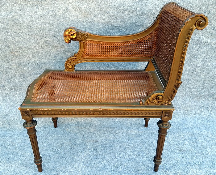DUCHESSE BRISEE BOIS ET CANNAGE / SOFA WOOD AND CANNAGE