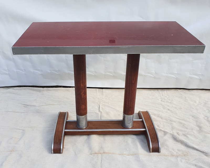 TABLE DE BAR ALU ROUGE / COFFEE TABLE RED ALU