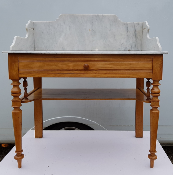 TABLE DE TOILETTE PLATEAU MARBRE/ MARBLE TRAY WASHSTAND