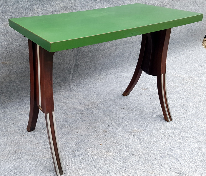 TABLE DE BAR FORMICA VERT / FORMICA GREEN BAR TABLE